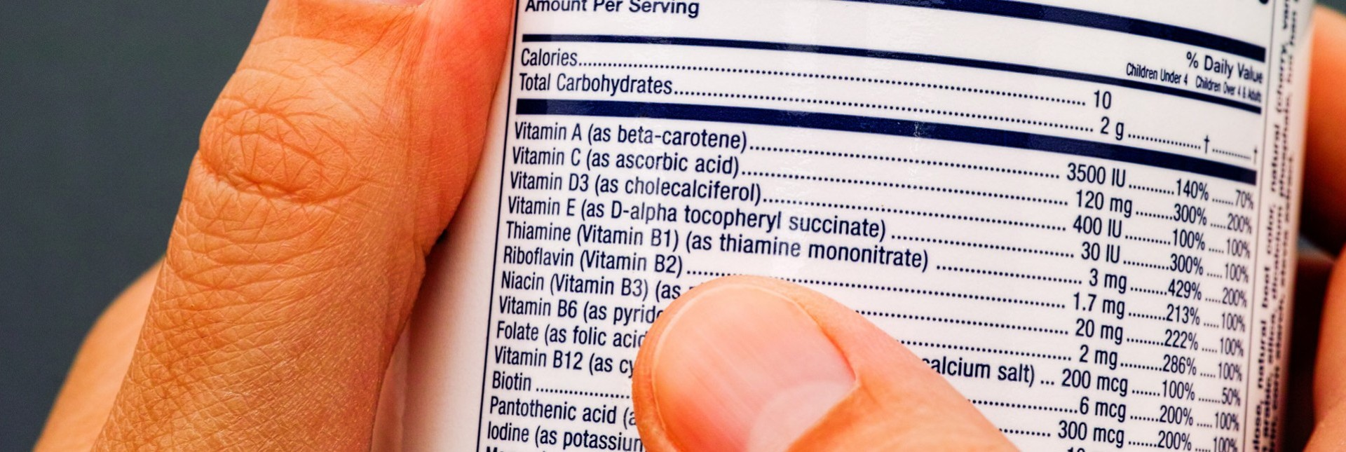 Vitamin Labels | What Do They Mean?
