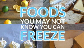 6 Foods You Didn't Know You Could Freeze