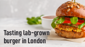 Tasting Lab-Grown Burger in London